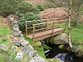 Bronte Way footbridge over the infant River Worth - geograph.org.uk - 1256504.jpg