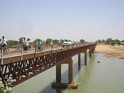 Bridge over the Chari River in the Logone Occidental