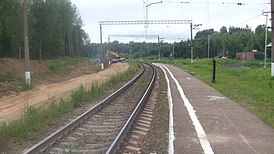 Bubyakovo railway platform (platform, view to west).JPG