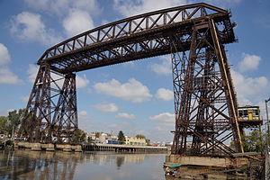 Puente Transbordador - Image: Buenos Aires La Boca Puente Nicolas Avellaneda 2012