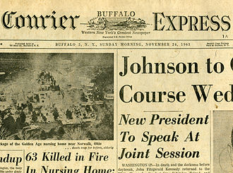 Buffalo Courier-Express - The front page of the Buffalo Courier-Express from November 24, 1963