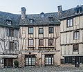 Buildings at Place eglise in Conques 05.jpg
