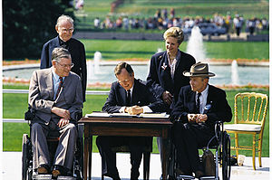 Americans with Disabilities Act of 1990 - President Bush signs the Americans with Disabilities Act into law