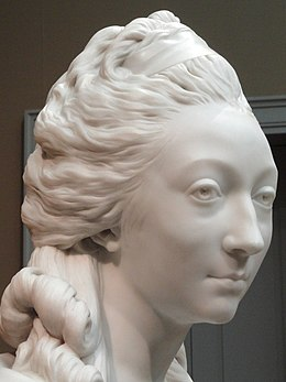 Bust of Anne-Marie-Louise Thomas de Domangeville de Serilly, Comtesse de Pange, 1780, by Jean-Antoine Houdon, marble - Art Institute of Chicago - DSC09504.JPG