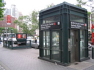 New York City Subway stations - Street elevator serving as an entrance to the 66th Street–Lincoln Center station