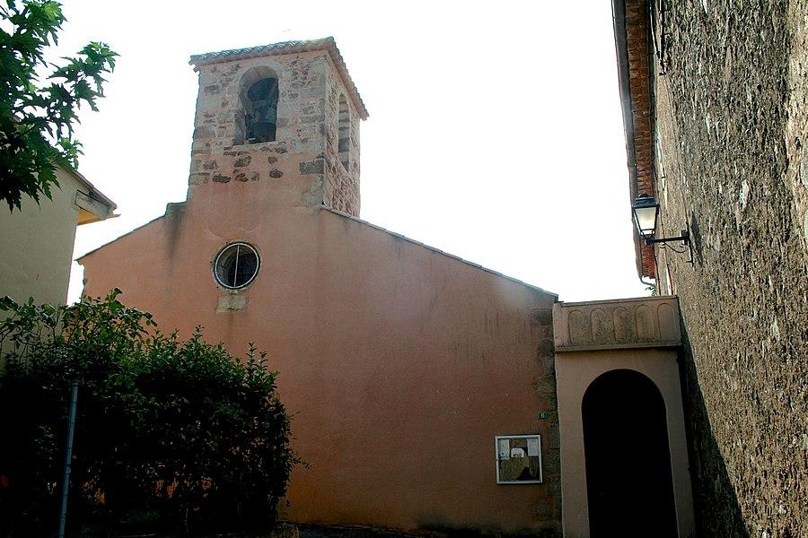 Cébazan (Hérault) - façade de l'église Saint-Martin