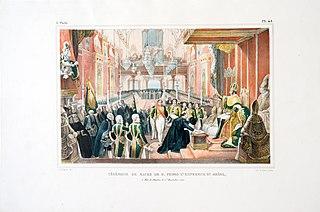 Cérémonie de Sacre de D. Pedro 1,er Empereur du Brésil, à Rio de Janeiro, le 1er, Decembre 1822