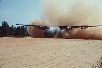 Transall C-160 - C-160 on a rough landing strip, 1985