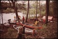 CANOE AND KAYAK CLUB FROM VERMONT PREPARE TO PADDLE DOWN THE UPPER HUDSON RIVER NEAR INDIAN LAKE VIA INDIAN RIVER, IN... - NARA - 554464.tif