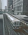 CTA Lake A Train on inner Loop at Randolph and Wells station, Chicago, IL on June 13, 1968 (25888632566).jpg