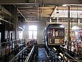 Cable car 21 in the carbarn, June 2017.JPG