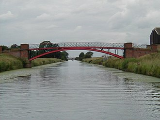 River Ancholme - Cadney Bridge, between Cadney and Hibaldstow is one of several iron bridges.