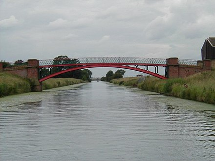 Cadney Bridge, between Cadney and Hibaldstow is one of several iron bridges. - River Ancholme