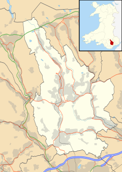 Risca is located in Caerphilly