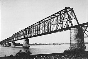 Cairo Rail Bridge - The Cairo Rail Bridge as it appeared in 1892