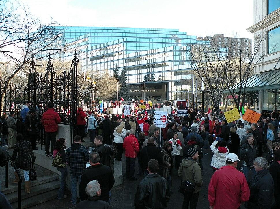 Calgary political protest 1