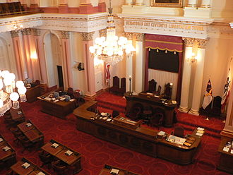 California State Legislature - California State Senate chamber