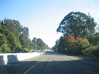 California State Route 13 - The Warren Freeway portion of State Route 13 between Joaquin Miller Road and Redwood Road.