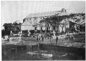 Battle of Caloocan - Image: Caloocan Church after battle 1899