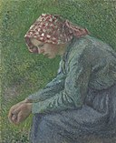 Camille Pissarro - A Seated Peasant Woman - 1983.7.13 - Yale University Art Gallery.jpg