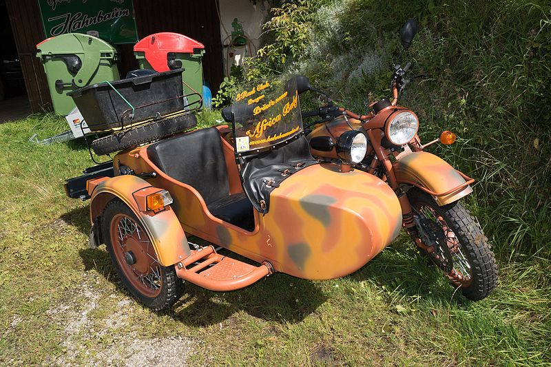 File:Camouflaged motorcycle with sidecar (23381644490).jpg