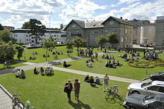 Danmarks Designskole - The campus area of the Danish Design School in 2010 while it was still based in the old main building of the Finsen Institute at Strandboulevarden
