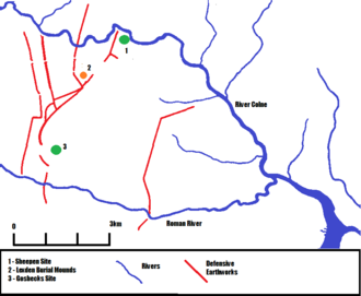 History of Colchester - The Iron Age site of Camulodunon