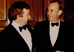 Peter Bawden - Canadian Prime Minister Joe Clark and Minister of Parliament Peter Bawden (circa 1980)