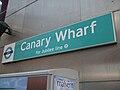 Canary Wharf DLR stn signage.JPG