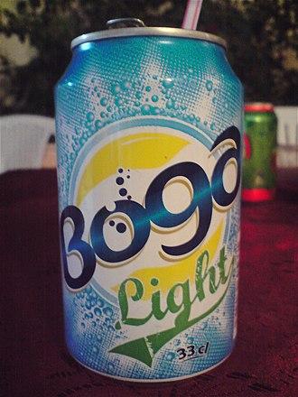 Boga (soft drink) - Image: Canette Boga Light tunisienne