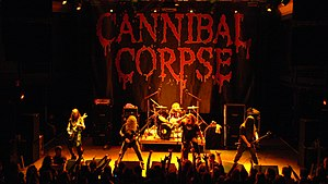 Cannibal Corpse performing at 9:30 Club in Washington, DC, 2007