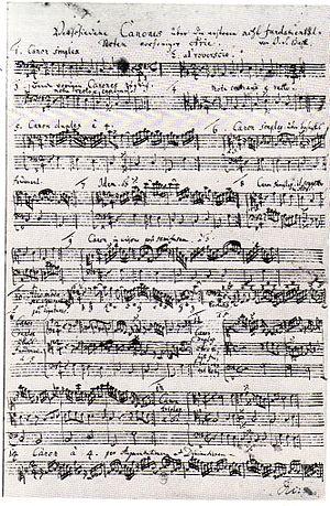 J.S. Bach - autograaf Canonische Veraenderungen