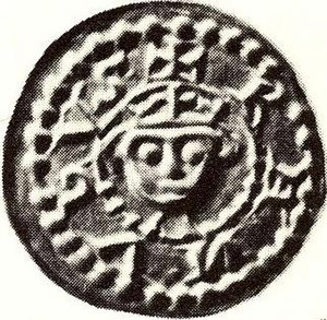 Canute II of Sweden - Coin bearing the effigy of Canute II