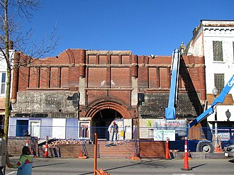 Capitol Theatre (Woodstock, Ontario) - The Capitol Theatre meeting its ultimate demise.