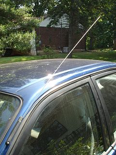 Whip antenna type of radio antenna