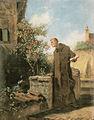 Carl Spitzweg - Mönch, an Rose riechend.jpg
