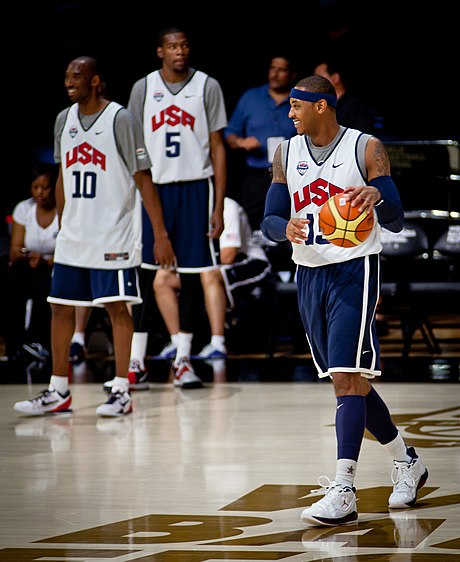 Carmelo Anthony with Team USA in the Olympics Carmelo Anthony USA2012.jpg