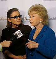 Carrie Fisher and Debbie Reynolds Carrie Fisher and Debbie Reynolds, 2015.jpg