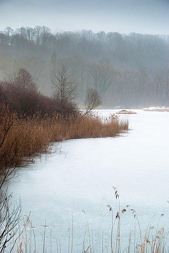 Cartigny, Switzerland - Lake outside of Cartigny
