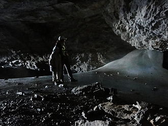 Grotto of Casteret - Image: Cascada helada de la cueva de Casteret WLE Spain 2015