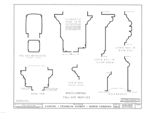 Cascine, State Route 1702, Louisburg, Franklin County, NC HABS NC,35-LOUBU.V,1- (sheet 11 of 12).png
