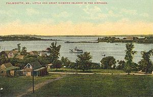 Falmouth, Maine - Casco Bay in 1910