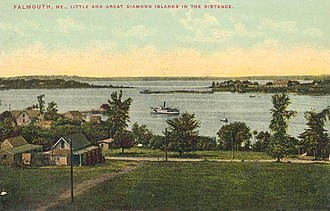 Falmouth, Maine - Casco Bay in 1910