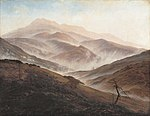 Caspar David Friedrich - Riesengebirge Landscape with Rising Fog - WGA8257.jpg