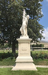 Cassandra puts herself under the protection of Pallas, Aimé Millet (1819-1891), Tuileries Garden, Paris