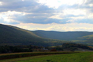 Catawissa Mountain - Catawissa Mountain in southern Beaver Township