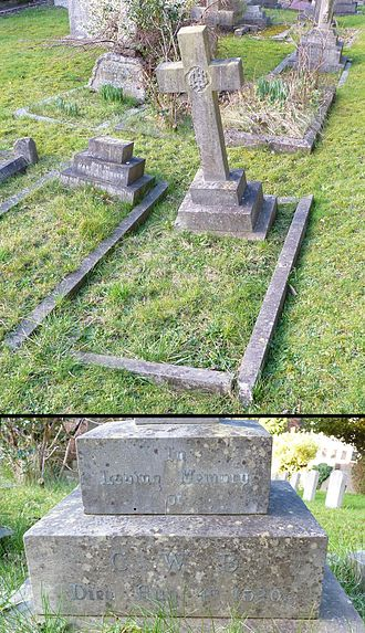Catherine Walters - A grave bearing the initials C.W.B and the date of death 4 August 1920 is at the Friary Church of St Francis and St Anthony, Crawley, West Sussex.