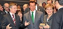 Angela Merkel e il Governatore Arnold Schwarzenegger