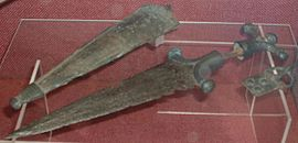 Celtic dagger, scabbard and buckle.JPG