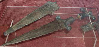 Insular Celts - Celtic dagger found in Britain.